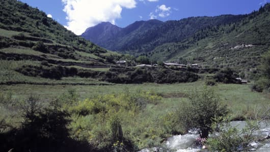 The Jiuzhaigou region in China's Sichuan Province.